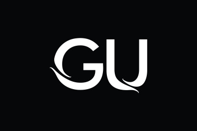 GU Monogram Logo Design