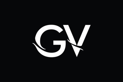 GV Monogram Logo Design