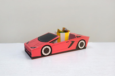 DIY Open Car favor - 3d papercraft