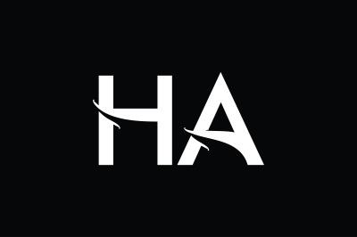 HA Monogram Logo Design