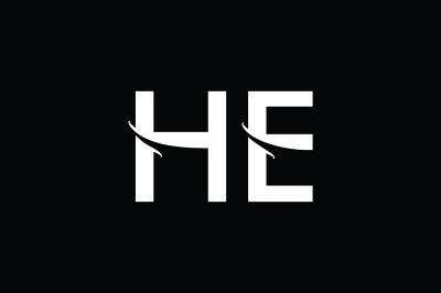 HE Monogram Logo Design
