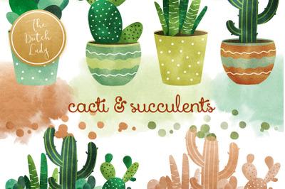 Cacti & Succulent Clipart Set