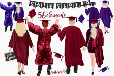 Graduation Clipart,Graduate Students, Grad College Senior,