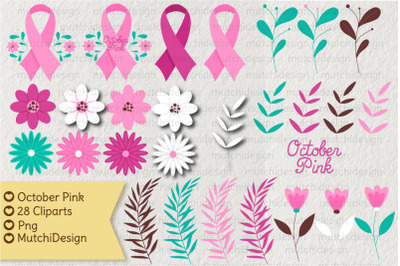 October Pink Cliparts