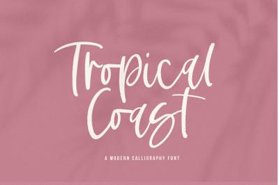 Tropical Coast - Modern Handwritten Font