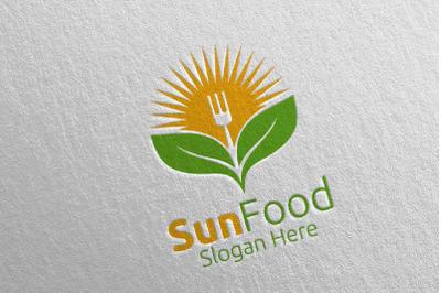 Sun Food Restaurant Logo 16