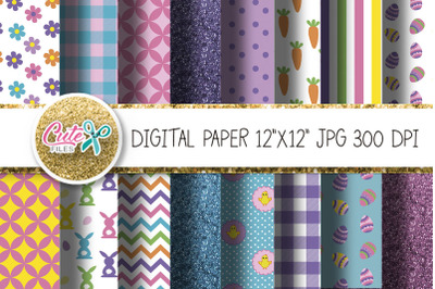 Easter digital paper for scrapbooking