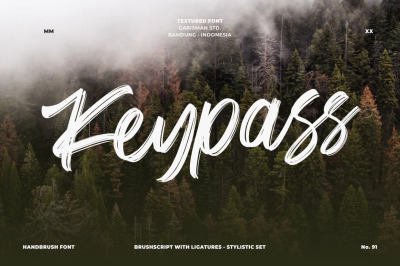 Keypass || Handbrush Font