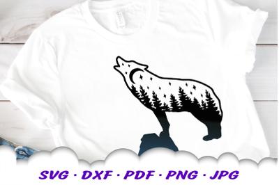 Celestial Wolf SVG DXF Cut Files Bundle