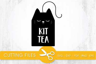 Kit Tea  SVG, PNG, EPS, DXF, Cut File