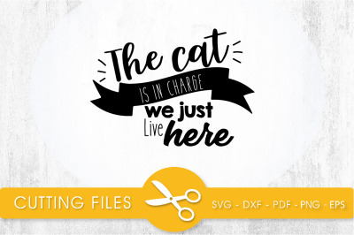 The Cat is in Charge SVG, PNG, EPS, DXF, Cut File