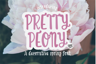 PRETTY PEONY a Decorative Spring Font