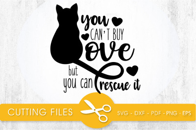 Cat Rescue SVG, PNG, EPS, DXF, Cut File