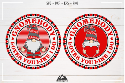 GNOMEbody Loves You Gnome Valentine Svg Design