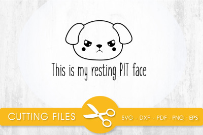 This is my resting PIT face SVG, PNG, EPS, DXF, Cut File
