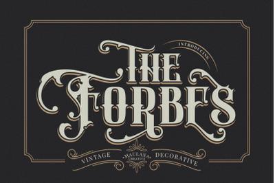 FORBES - Modern Vintage Font