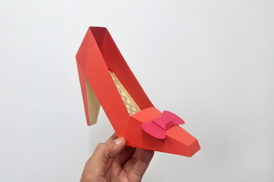 DIY Ruby Slippers - 3d papercraft
