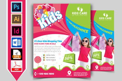 Kids Fashion Shop Flyer Vol-01