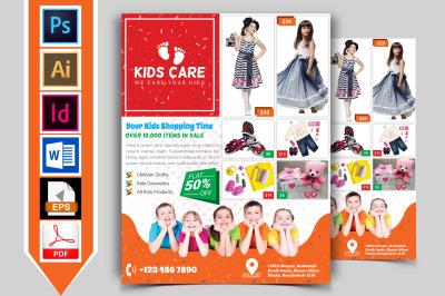 Kids Fashion Shop Flyer Vol-03