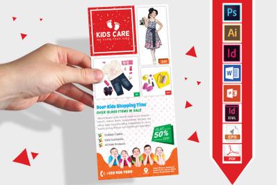 Rack Card | Kids Fashion DL Flyer v-03