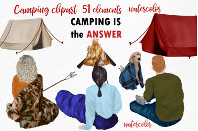 Camping clipart People Clipart People outdoor Camp Graphics