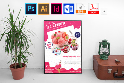 Poster | Ice Cream Shop Vol-01