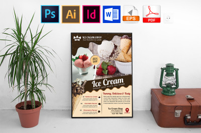 Poster | Ice Cream Shop Vol-03