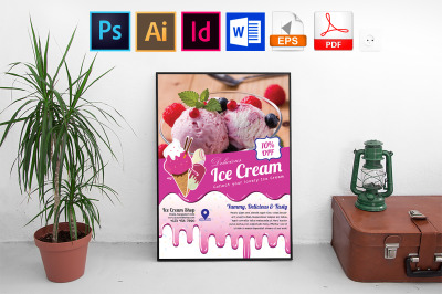 Poster | Ice Cream Shop Vol-02