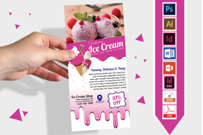 Rack Card | Ice Cream Shop DL Flyer02