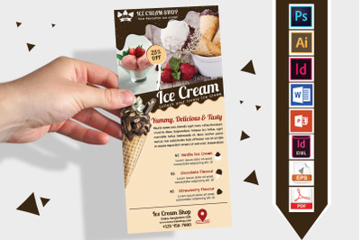 Rack Card | Ice Cream Shop DL Flyer 03