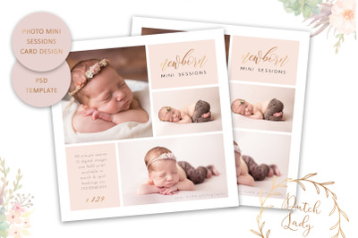 PSD Photo Session Card Template #58