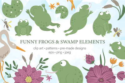 Funny Frogs and Swamp Elements