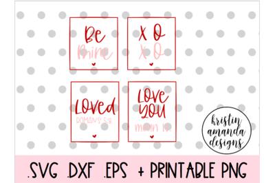 Valentine's Day SVG Bundle SVG DXF EPS PNG Cut File  Cricut  Silhouett