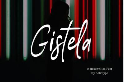 Gistela | Handwritten Font