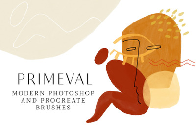 PRIMEVAL - Photoshop and Procreate Stamp Brushes