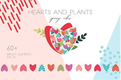 Vector Hearts clipart Commercial Use Digital file Hearts silhouette EP