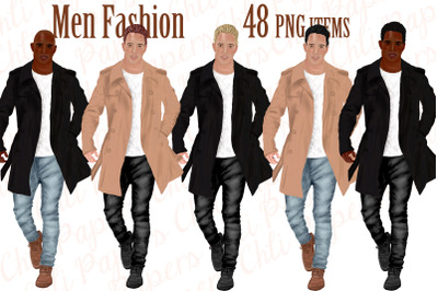 Fashion Man clipart,Dressed man,Male clipart,BFF clipart