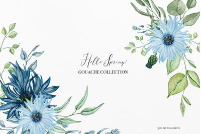 Hello spring - Gouache collection