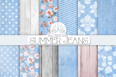 SUMMER JEANS digital paper