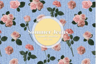 SUMMER JEANS Seamless Patterns