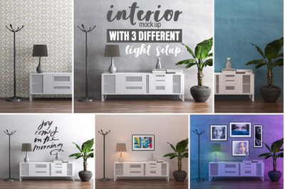Interior Mock-up by day and by night vol.03