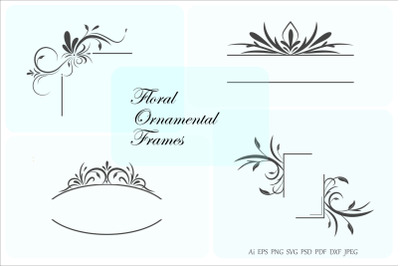 Floral Frames and Borders, Ornamental design elements.
