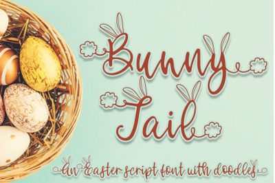 Bunny Tail - An Easter script font with doodles