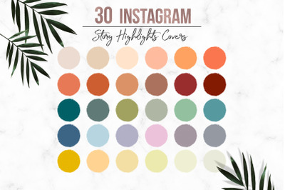 30 Watercolor Instagram Story Highlight Covers