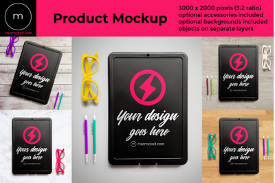 Storage Clipboard Back Side Flat Lay | Mock Up