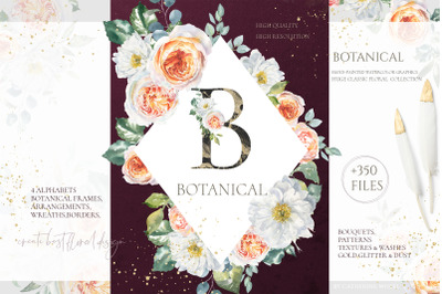 SALE Botanical Watercolor Floral set