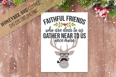 Faithful Friends Hipster Deer