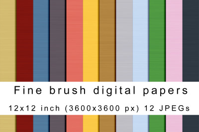 Fine brush digital papers