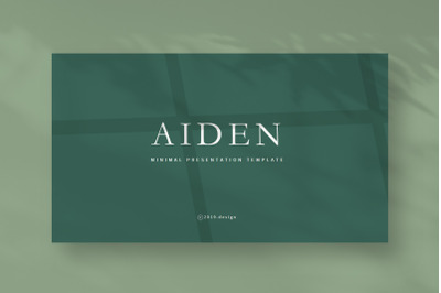 AIDEN - PowerPoin Template