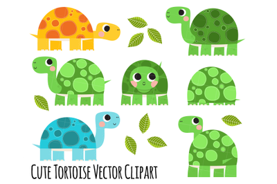 Tortoise Clipart, Cute Tortoise clipart, Shell clipart, Turtle clipart